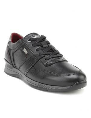 SALAMANDER vīriešu melni ādas brīva laika apavi