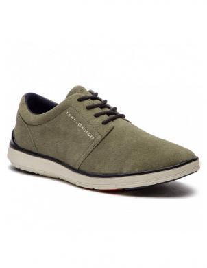 TOMMY HILFIGER vīriešu zaļi zamšādas brīva laika apavi