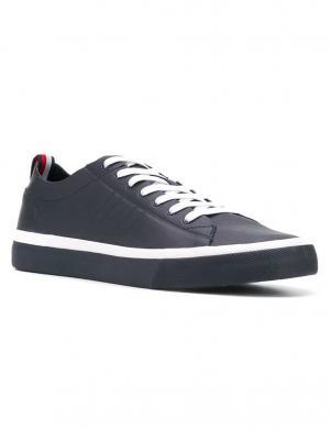 TOMMY HILFIGER vīriešu tumši zili ādas brīva laika apavi