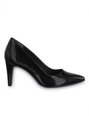 Sieviešu melni lakoti augstpapēžu apavi TAMARIS