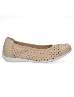 CAPRICE sieviešu krēmīgas krāsas ādas apavi