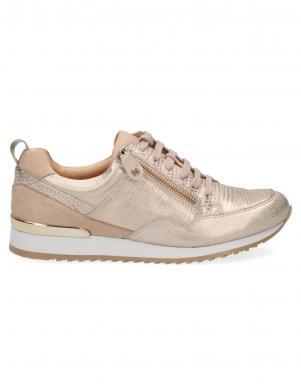 CAPRICE sieviešu zelta krāsas ādas apavi