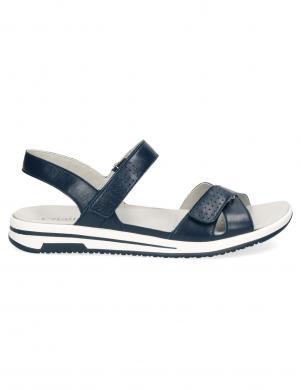 CAPRICE sieviešu zilas ādas sandales