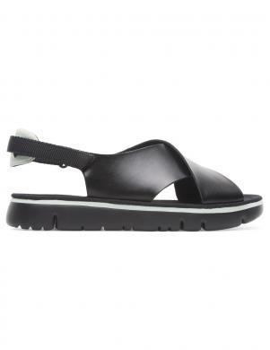 CAMPER sieviešu melnas ādas sandales ORUGA