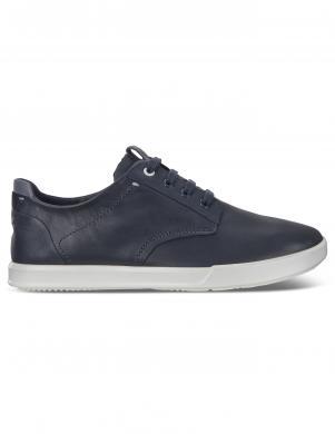 ECCO vīriešu zili ādas brīva laika apavi COLLIN