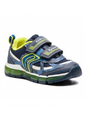 GEOX bērnu zili/dzelteni brīva laika apavi