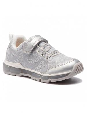 GEOX bērnu sudraba apavi ar led gaismām
