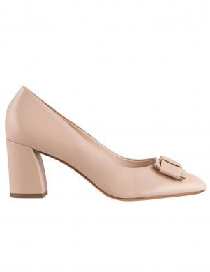 HOGL sieviešu krēmīgas krāsas ādas augstpapēžu apavi