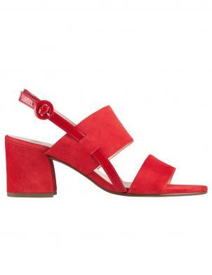 HOGL sieviešu sarkanas ādas sandales PAINTY