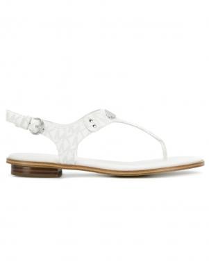 MICHAEL KORS sieviešu baltas sandales pār pirkstu PLATE