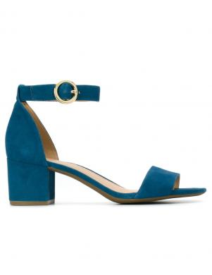 MICHAEL KORS sieviešu zilas ādas sandales LENA