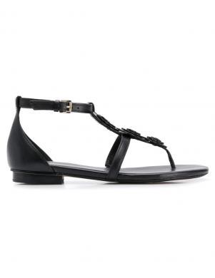MICHAEL KORS sieviešu melnas ādas sandales FELICITY