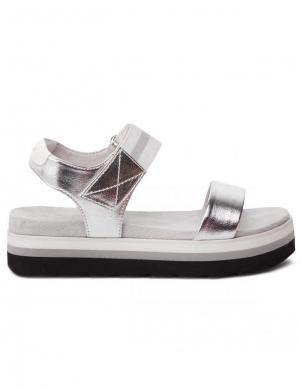 S.OLIVER sieviešu sudraba krāsas brīva laika sandales