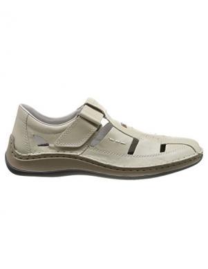 RIEKER vīriešu gaiši ādas atvērti apavi
