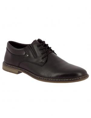 RIEKER vīriešu melni ādas šņorējami apavi
