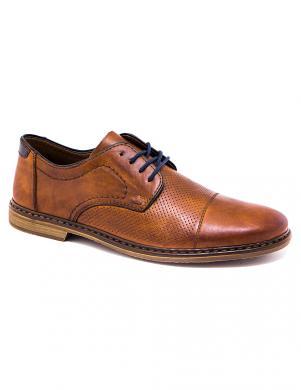 RIEKER vīriešu brūni ādas klasiski apavi