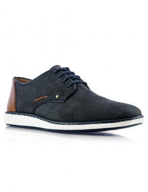 RIEKER vīriešu zili ādas šņorējami apavi