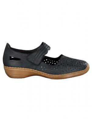RIEKER sieviešu zili ādas perforēti apavi