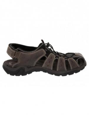 SALAMANDER vīriešu pelēkas ādas sandales