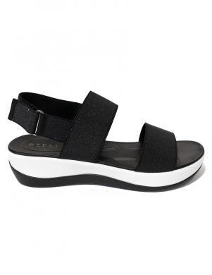 STELLA sieviešu melnas sandales