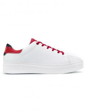 TOMMY HILFIGER vīriešu balti ādas brīva laika apavi