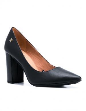 TOMMY HILFIGER sieviešu melni ādas augstpapēžu apavi