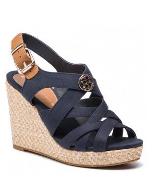 TOMMY HILFIGER sieviešu tumši zilas augstpapēžu sandales