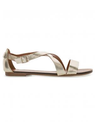 VAGABOND sieviešu zelta krāsas ādas sandales TIA