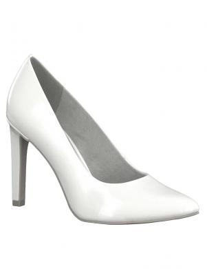 MARCO TOZZI sieviešu balti lakoti augstpapēžu apavi