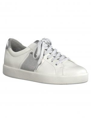 MARCO TOZZI sieviešu balti ādas brīva laika apavi