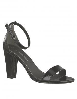 MARCO TOZZI sieviešu melnas lakotas augstpapēžu sandales