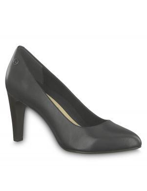 TAMARIS sieviešu melni ādas augstpapēžu apavi CATERYNA