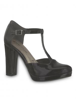 TAMARIS sieviešu melni lakoti augstpapēžu apavi LYCORIS