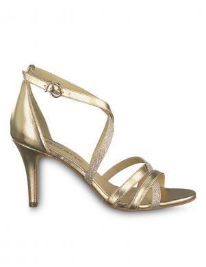TAMARIS sieviešu zelta krāsas augstpapēžu sandales HEITI