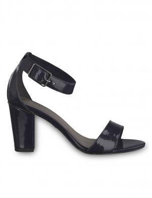 TAMARIS sieviešu melnas lakotas augstpapēžu sandales HEITI