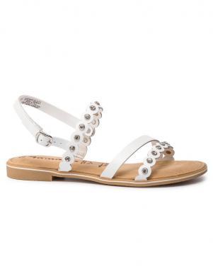 TAMARIS sieviešu baltas ādas sandales SERA