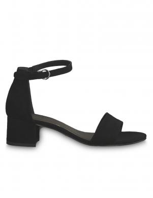 TAMARIS sieviešu melnas zempapēžu sandales KOLI
