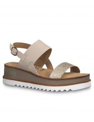 TAMARIS sieviešu krēmīgas/zelta krāsas sandales