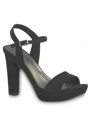 TAMARIS sieviešu melnas augstpapēžu sandales HEITI