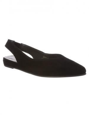 TAMARIS sieviešu melnas ādas aizdares sandales