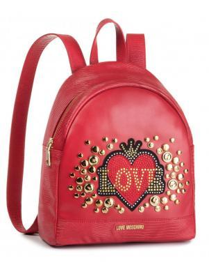 LOVE MOSCHINO sarkana sieviešu mugursoma
