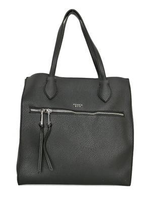 TOSCA BLU melna ļoti liela sieviešu soma