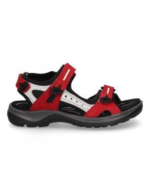 ECCO sieviešu sarkanas zamšādas sandales OFFROAD
