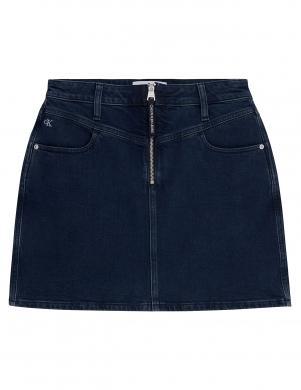 CALVIN KLEIN tumši zili džinsa svārki