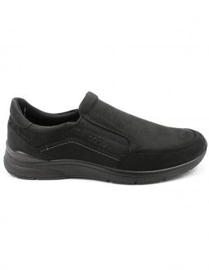 ECCO vīriešu melni apavi IRVING