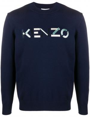 KENZO vīriešu zils vilnas džemperis