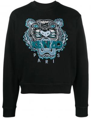 KENZO vīriešu melns izšūts džemperis