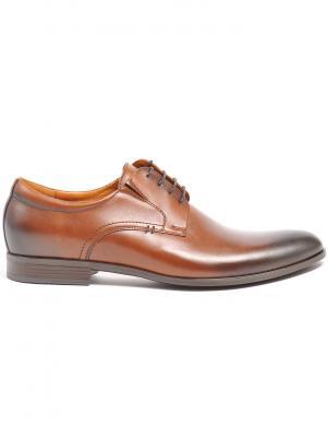 LA CONTE vīriešu brūni ādas klasiski apavi