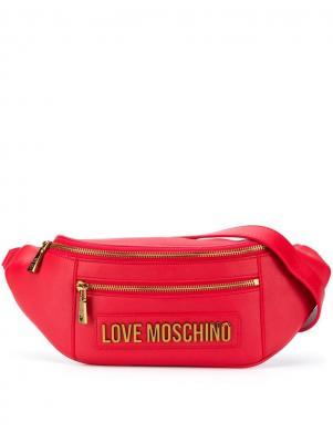 LOVE MOSCHINO sieviešu sarkana soma ap vidukli