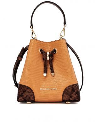 MICHAEL KORS sieviešu brūna - oranža ādas soma